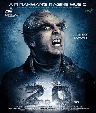 Akshay Kumar looks scary in '2.0' latest poster