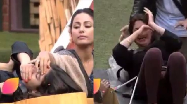 BIGG BOSS 11 LUXURY BUDGET TASK: Hina Khan puts CHILLY POWDER in Bandagi's eyes