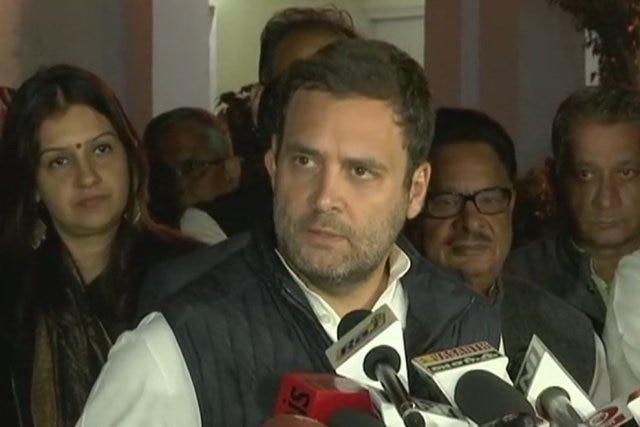 Rahul Gandhi says BJP's foundation based on 'lies'