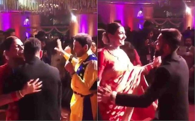 VIDEO: Virat Kohli and Anushka Sharma dancing in their reception