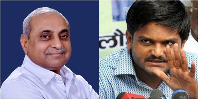 Gujarat Nitin Patel wants key portfolios back, Hardik Patel says join Congress