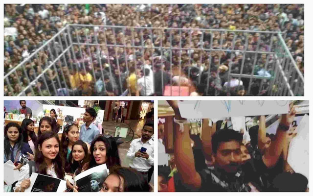 BIGG BOSS 11: OMG ! Shilpa Shinde, Hina Khan, Luv Tyagi and Vikas Gupta face a crazy fan-crowd !