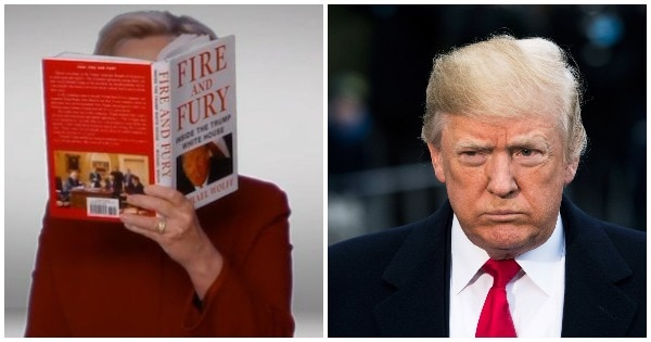 Hillary Clinton Makes A Surprise Cameo At The Grammys, Roasts Trump By Reading 'Fire And Fury'