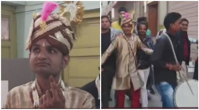Voting before wedding: Groom casts vote in Ajmer bypolls before tying knot