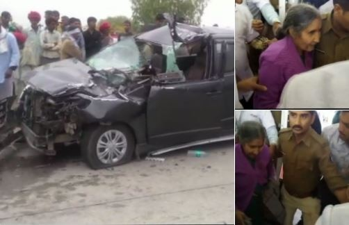 Rajasthan: Car in which PM Narendra Modi's wife, Jashodaben was travelling met with an accident