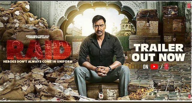 Bollywood actors Ajay Devgn and Ileana D'Cruz's upcoming film Raid's trailer is already a hit