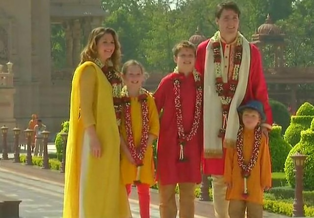 Canadian PM Justin Trudeau and his family go saffron during Gujarat visit