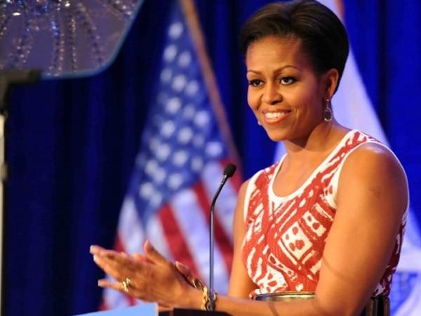 Michelle Obama extols 'Black Panther' cast