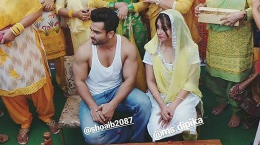 Shoaib Ibrahim and Dipika Kakar's HALDI CEREMONY