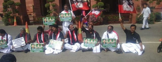 AIADMK begins hunger strike over Cauvery issue