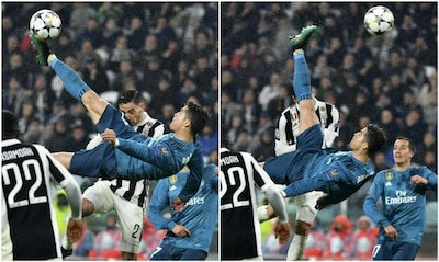 Watch Cristiano Ronaldo S Sublime Bicycle Kick Stuns The Entire Football World