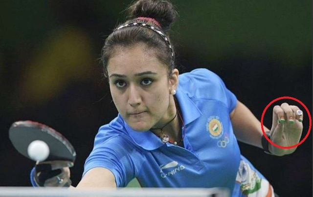 Twitter is divided on CWG gold medalist Manika Batra's tricolour nail paint