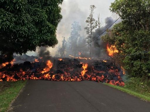 Hawaii Volcanic Eruption: Lava crosses highway, destroys 400 utility poles