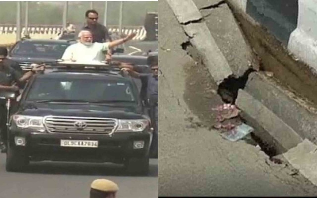 Newly inaugurated Delhi-Meerut expressway damaged after first spell of showers