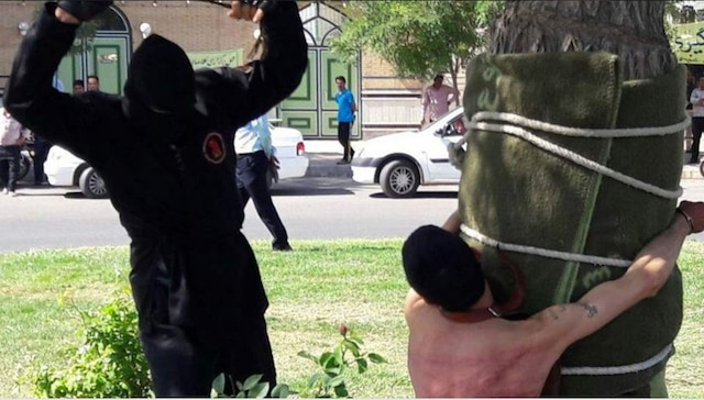 Shocking! Iranian man publicly flogged 80 times for this reason !