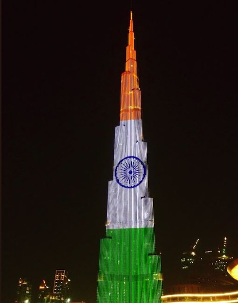 PICS: Empire State Building, Niagara falls, Burj Khalifa lit-up in Tricolour to mark India's Independence Day