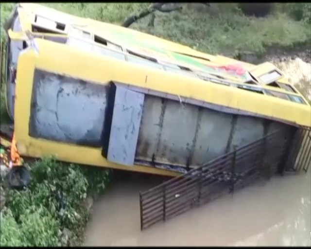 MP: Bus carrying 50 BJP workers falls in gorge near Damoh; 1 dead, 24 severely injured