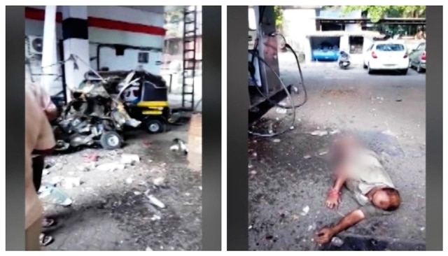 Watch: Two auto drivers critically injured in CNG cylinder explosion at Mumbai's Kandivali petrol pump