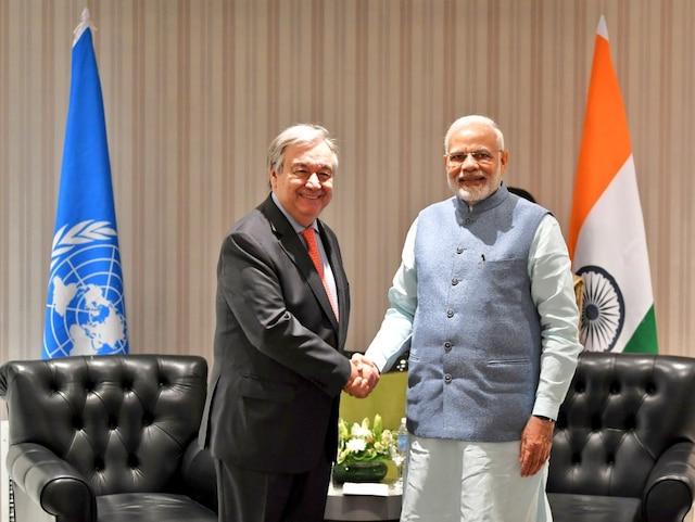 G20 Summit 2018: PM Modi meets UN Chief Antonio Guterres; Discusses India's role in addressing climate change