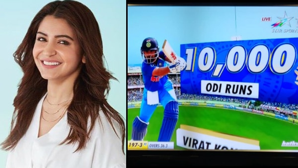 Virat Kohli beats Tendulkar to become the fastest batsman to amass 10,000 ODI runs; Anushka Sharma is all hearts for hubby!
