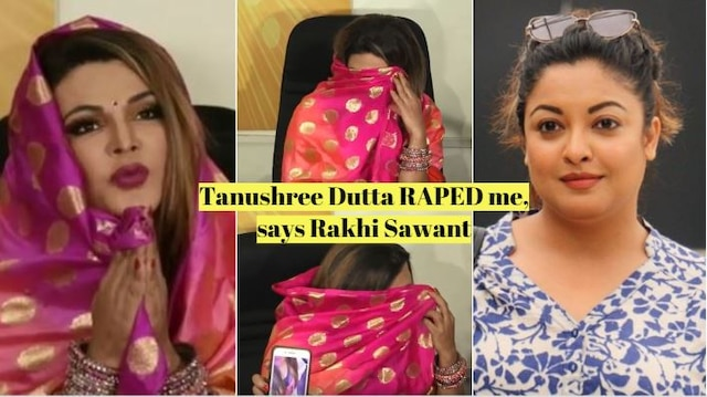 SHOCKING! Rakhi Sawant claims Tanushree Dutta is a LESBIAN; 'she touched my private parts and raped me'! INSIDE VIDEO