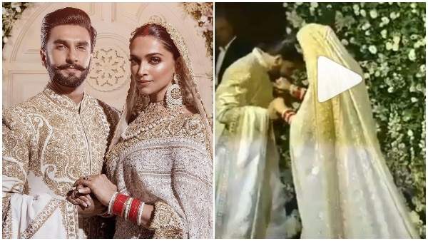 'Kiss of Love': Ranveer kisses wife Deepika in the most ROMANTIC way at their wedding reception (WATCH VIDEO)