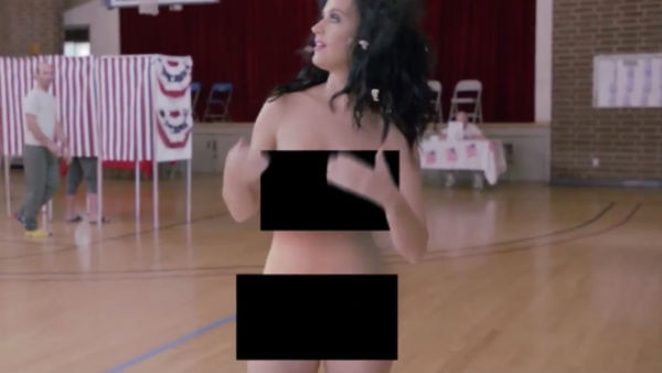 OMG! WATCH This FAMOUS celebrity attempts to vote NAKED in new video !