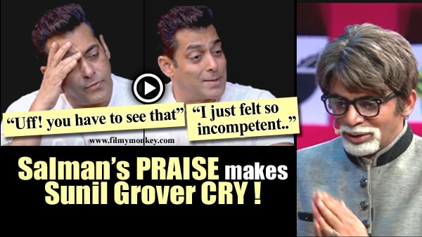 Sunil Grover cries in reaction to Salman calling himself