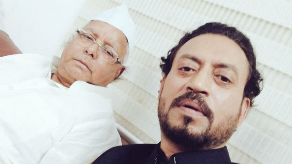 CHECK OUT: Irrfan Khan shares 'bawaal' selfie with Lalu Prasad Yadav