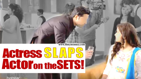 SHOCKING! TV actress SLAPS her co star on the sets!