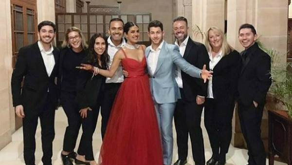 Priyanka-Nick Wedding: New bride stuns in red at her post marriage bash!