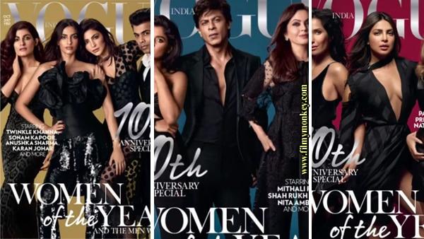 SRK, Priyanka Chorpa and Anushka Sharma grace the 10th anniversary of Vogue India