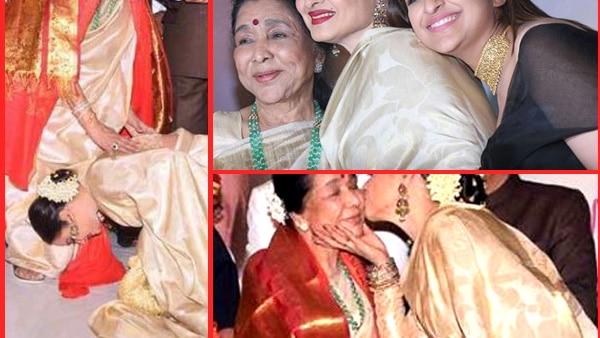 Rekha felicitates Asha Bhosle with Yash Chopra Memorial Award