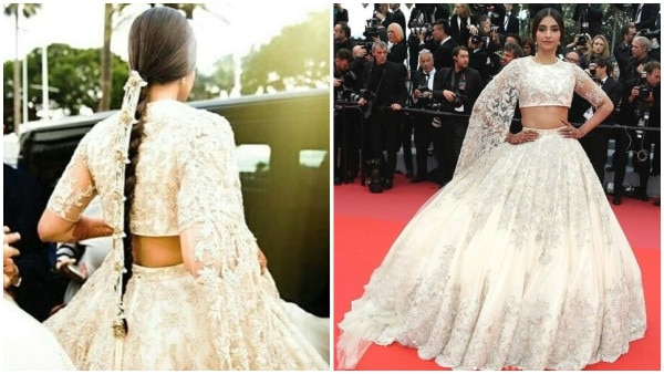 Cannes 2018: Newly-married Sonam Kapoor looks resplendent as she poses on the red-carpet!