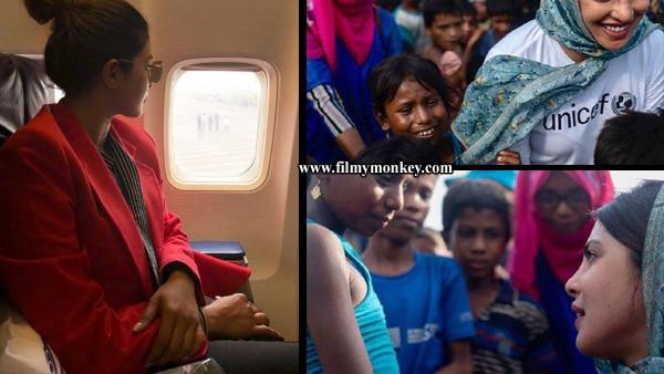 Priyanka Chopra in Dhaka, Bangladesh... Visits Rohingya refugee camps & shares pictures!