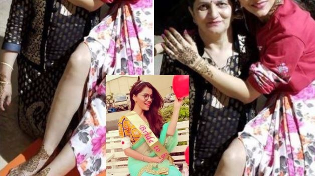 FIRST PIC from TV actress Rubina Dilaik's WEDDING festivities; Bride-to-be poses with her mom on Mehendi!