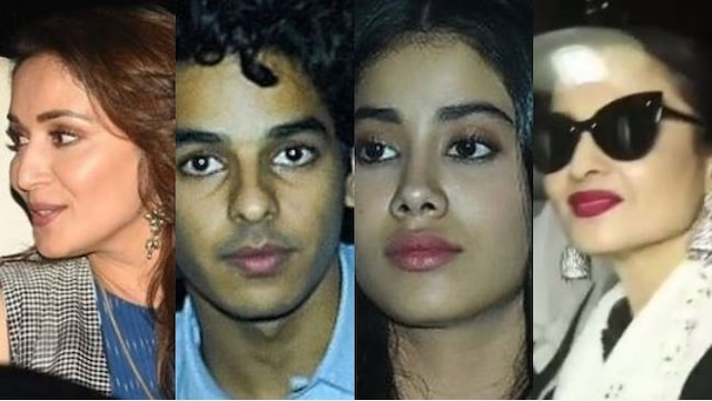 Shahid, Madhuri, Rekha attend 'Dhadak' special screening