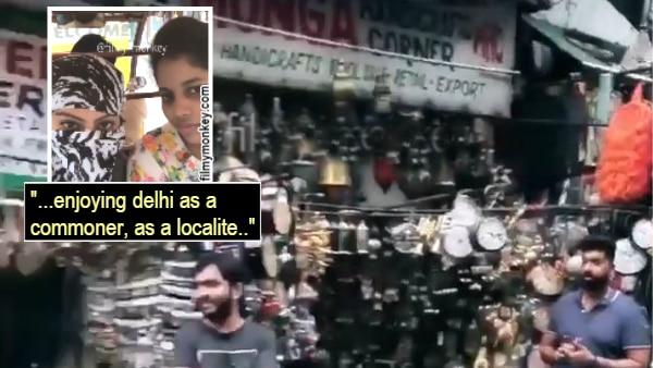 TV star Deepika Singh takes Delhi metro ride & goes street shopping in Janpath with face hidden!