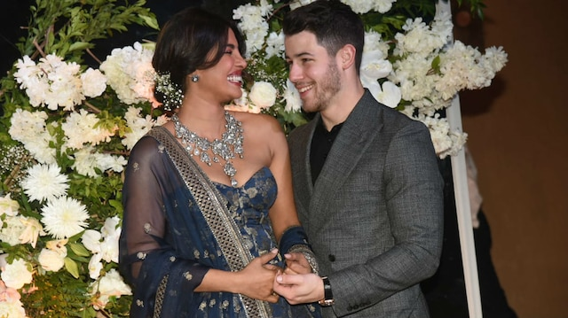 Priyanka Chopra-Nick Jonas Wedding Reception PICS: Newlyweds look made for each other at their GRAND BASH in Mumbai!