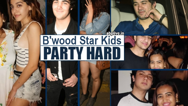 Akshay's son Aarav Kumar parties hard with star kids Karan Deol, Nirvan Khan, Ibrahim Ali Khan & Alaia Furniturewalla at Bastian