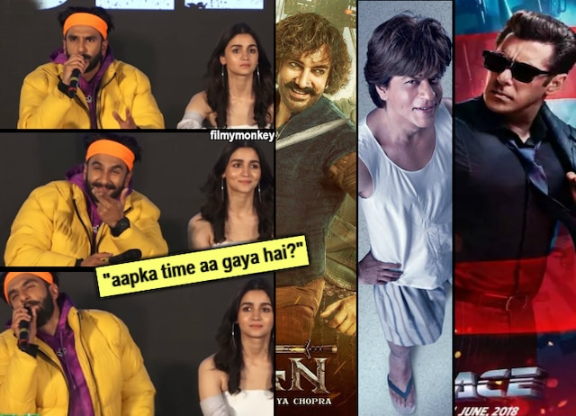 Gully Boy Trailer launch VIDEO: With 3 Khans Aamir-Srk-Salman's films failing, has Ranveer Singh's time come as tagline goes 'Apna Time Aayega'? Here's what he said!