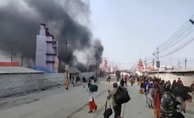 Massive Fire engulfs Kumbh Mela at Prayagraj; rescue operation underway