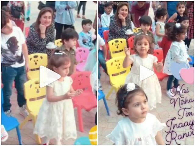 VIDEOS: Taimur Ali Khan, Inaaya Naumi Kemmu & Nisha Kaur Weber dance at Ranveer Gupta's birthday bash; Kareena Kapoor Khan watches them having fun!