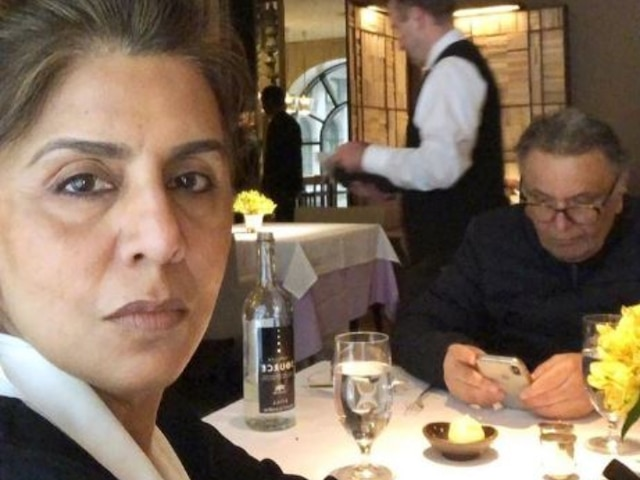 Neetu Kapoor posts picture with Rishi Kapoor from their lunch date, shares what happens after 38 years of marriage (SEE PIC)