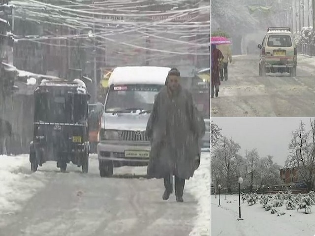 Heavy snow in Jammu and Kashmir, roads closed, flights cancelled; Watch Video