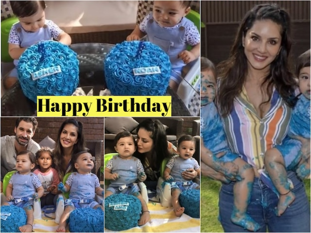 Sunny Leone-Daniel Weber's twin sons Noah and Asher's FIRST BIRTHDAY pics