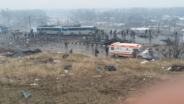 Terrorist rammed red Eeco car into CRPF bus; kept driving it along the convoy for 2 minutes: sources