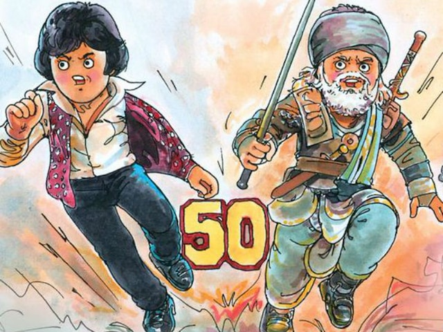 Amul celebrates Amitabh Bachchan's 'golden jubilee' in cinema with doodle