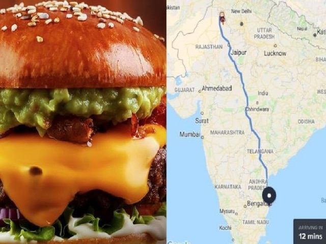 Man orders food in Chennai, Swiggy shows delivery person coming from Rajasthan in '12 minutes'