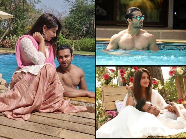 Dipika Kakar and hubby Shoaib Ibrahim chill in a pool in Alibag ringing in their 1st Wedding Anniversary!